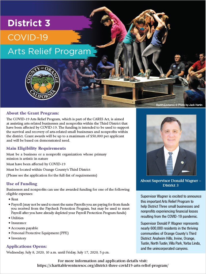 Third District Arts Relief Program